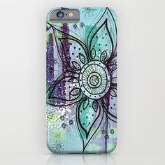 Teal Flower iPhone & iPod Casehttp://society6.com/product/teal-flower-xaw_iphone-case#52=377 www.juliem.pro