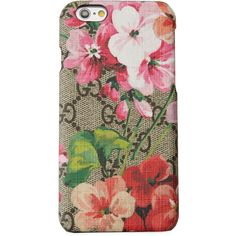 77f8c91bbc02fa Gucci GG Blooms iPhone 6/6s Case ($260) ❤ liked on Polyvore featuring