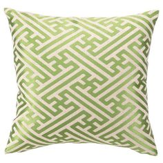 Bring an eye-catching pop of pattern to your living room or master suite with this embroidered linen pillow, showcasing a crosshatch motif and feather-down f...