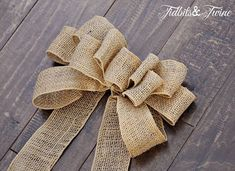TidbitsTwine How to Make a Bow DIY Inexpensive Fall Wreath and Fancy Bow