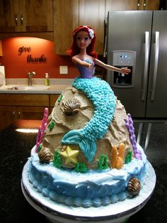 Birthday cake for my niece. She loves Ariel!