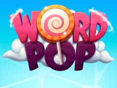 Word Pop Game on Behance Bg Design, Game Logo Design, Graphic Design, Game Font, Game Ui, Font Art, Typography Logo, Level Design, Video Game Logos