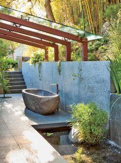Exotic Bathroom by Desiderata Design in Los  Angeles, California