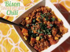 Bison Sweet Potato Chili!  My favorite recipe by far!