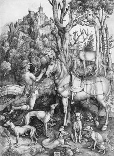 Albrecht Dürer Title: Saint Eustace  1500 - 1501