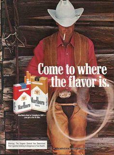 Magazine ad for Marlboro cigarettes. Circa 1978. My brand till I stopped cold turkey.