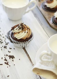 Nutella cupcakes. These would probably be great with the homemade nutella recipe.