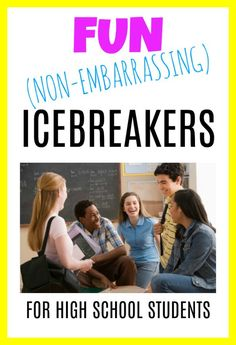 Fun, Non-Embarrassing Ice Breakers for High School & Middle School Students – EVERYDAY TEACHER STYLE Back to school time! Ice breakers for high school students — Everyday Teacher Style; icebreaker ideas, icebreakers for high school Middle School Icebreakers, First Day Of School Activities, Classroom Icebreakers, College Icebreakers, Middle School Games, High School Classroom, High School Students, Middle School Counseling, School Counselor