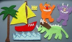 Wild Things Children's Flannel Board Felt Set by FunFeltStories, $13.00