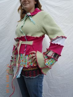Upcycled Sweater JACKET / Coat with exposed seams by RecycledGrace, $119.00