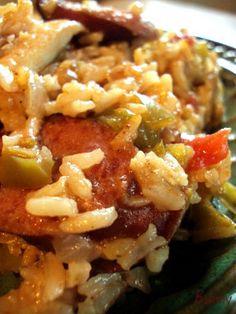 Chicken sausage rice dish...