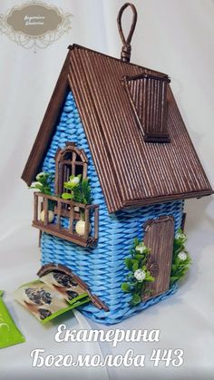 Arts And Crafts House Style Paper Weaving, Weaving Art, Arts And Crafts House, Diy And Crafts, Twig Furniture, Origami Paper Art, Paper Mache Sculpture, Newspaper Crafts, Fairy Doors