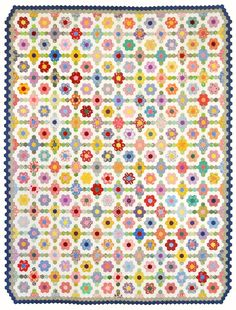 As followers may recall, I started hand stitching hexies for a Grandmother's Flower Garden quilt in March, 2012 ... three years ago. Watc...