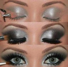 Wishing I had blue eyes... This look is amazing!