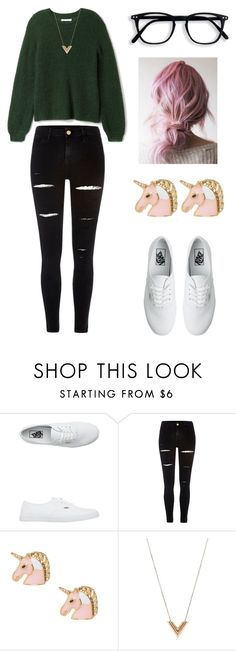 """OOTD"" by jessas-style ❤ liked on Polyvore featuring Vans, River Island, Louis Vuitton, ootd and Geek"