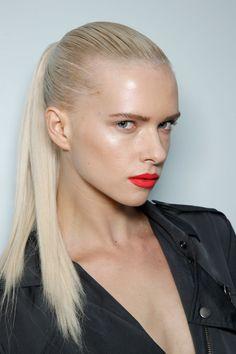 Nicole Farhi Spring 2012 Runway Pictures - StyleBistro slicked back ponytail