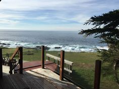 From the master bedroom deck.  Wake up to the sound of crashing waves each day.