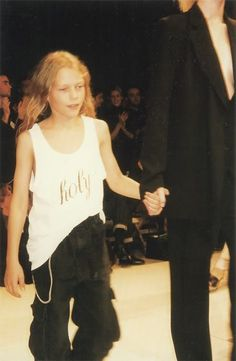 >>> Ann Demeulemeester's son at the finale of S/S 98