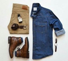 Mens Casual Dress Outfits, Khaki Pants Outfit, Stylish Mens Outfits, Men Dress, Dress Shoes, Herren Outfit, Men's Wardrobe, Gentleman Style, Mens Clothing Styles