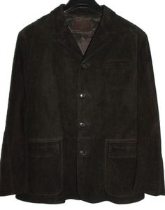 LUCIANO BARBERA Mens Jacket Suede Brown Size 54  US 44 #LucianoBarbera #BasicJacket
