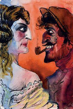 Otto Dix - Französisches Ehepaar