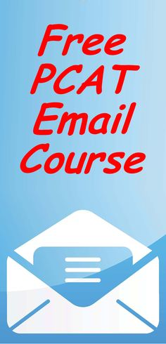 Free PCAT Review Course by email. #pcat #pharmacyschool