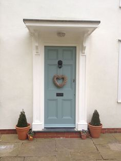 Farrow And Ball Oval Room Blue Front Door Colours Cottage Front Cottage Front Doors, Victorian Front Doors, Front Door Porch, House Front Door, Front Entry, Door Paint Colors, Front Door Colors, Farrow And Ball Front Door Colours, Oval Room Blue