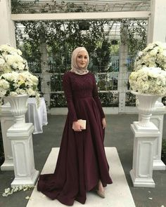 The gorgeous (msA) in our designer gown! - The gorgeous (msA) in our designer gown!… Source by - Hijab Prom Dress, Hijab Gown, Hijab Evening Dress, Hijab Style Dress, Hijab Wedding Dresses, Muslim Dress, Modest Dresses, Dress Wedding, Muslim Hijab