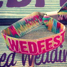 festival wedding wristbands by wedfest   notonthehighstreet.com
