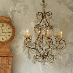 Stunning Venetian Style Chandelier with 6 Arms $4,285.00 #thebellacottage #OOAK #eloquence