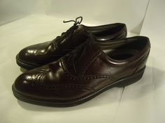 Dexter Men's Wing Tip Shoes Brown Leather Comfort Insole Oxfords USA MADE -10 M #Dexter #Oxfords