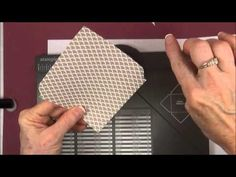 Stampin Up Making Envelope Liners for Any Size Envelope CLASS 4 - YouTube
