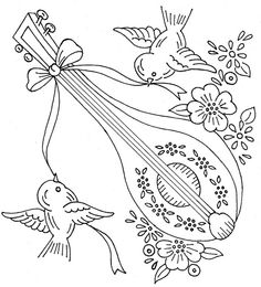 birds and lute | love to sew via Flickr
