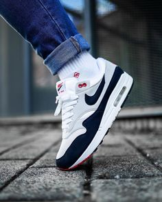 wearing the Air Max 1 Anniversary Pack - Women Trends Best Sneakers, Air Max Sneakers, Sneakers Fashion, Sneakers Nike, Adidas Shoes, Air Max One, Kicks Shoes, Shoes Heels, Stylish Mens Outfits