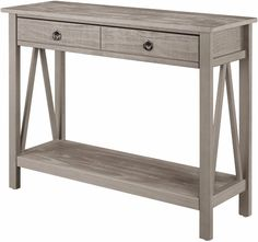 Weathered Console Table Entryway Living Room Rustic Gray Wood Furniture W/ Shelf | Home & Garden, Furniture, Tables | eBay!