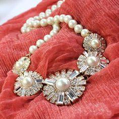 Statement piece- pearls and diamonds