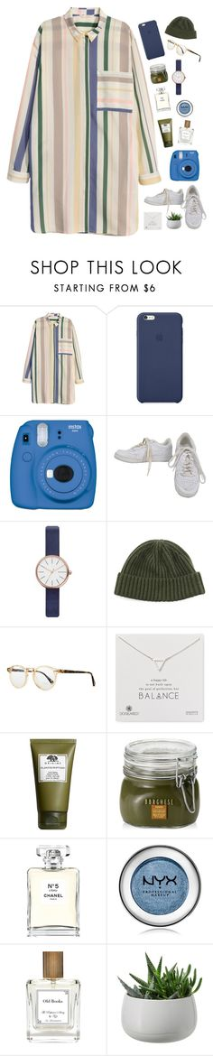 """Hippie"" by mode-222 ❤ liked on Polyvore featuring Fujifilm, NIKE, Skagen, Bergdorf Goodman, Oliver Peoples, Dogeared, Origins, Borghese, Chanel and NYX"