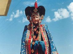 """The headdress for Ordos women, commonly called """"toudai"""" (literally, head wear), is the choice piece of Mongolian ornaments as well as the pride of the Ordos people."""