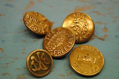 Vintage Gold Buttons...America USA