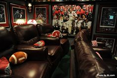If you thought you were a big #alabamafootball fan, you haven't seen this awesome #mancave. #football #alabama
