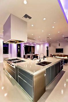50 Best Kitchen Design Ideas for 2016 More - - dream house luxury home house rooms bedroom furniture home bathroom home modern homes interior penthouse Luxury Kitchen Design, Contemporary Kitchen Design, Best Kitchen Designs, Dream Home Design, Luxury Kitchens, Interior Design Kitchen, Cool Kitchens, Kitchen Ideas, Kitchen Decor