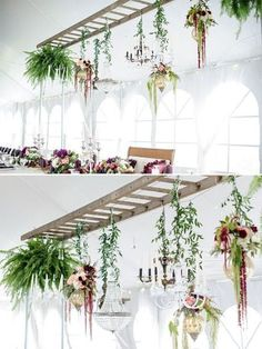 How to Decorate Your Rustic Wedding With Seemly Useless Ladders - Balkon en ind. How to Decorate Your Rustic Wedding With Seemly Useless Ladders - Balkon en indoortuin inspiratie - ideas