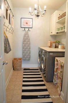 Laundry Room Organization, Laundry Room Design, Laundry Rooms, Basement Laundry, Garage Laundry, Laundry Decor, Mud Rooms, Laundry Storage, Laundry Closet