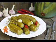 Соленые огурцы на зиму по маминому рецепту - YouTube Pickles, Cucumber, Sausage, Canning, Ethnic Recipes, Food, Youtube, Sausages, Home Canning