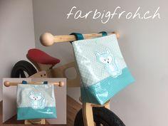 www.farbigfroh.ch #lenkertasche #fahrradtasche #rollertasche #trottitasche #lenkerutensilo Toilet Paper, Towel, Bags, Toilet Paper Roll