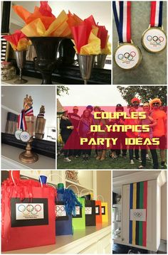 Couples Olympics Theme Party for Adults . Couples Olympics Theme Party for Adults, every year we have a blast at this crazy theme party. Beer Olympics Party, Olympic Idea, Olympic Games, Olympic Gymnastics, Office Olympics, Olympic Crafts, Adult Party Themes, Theme Parties, Birthday Parties