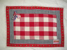 BLOND-AMSTERDAM Checkered Floral Lace PLACEMAT w/ Dutch Shoe Euro COTTAGE Chic #BlondAmsterdam