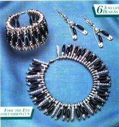 Safety Pin Set (bracelet, necklace and earrings)