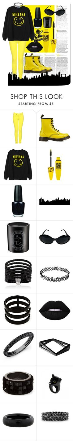 """""""Untitled #79"""" by hedvigaarts on Polyvore featuring rag & bone, Dr. Martens, Chicnova Fashion, Maybelline, OPI, Diptyque, Alor, Repossi, Lime Crime and Stephanie Bates"""