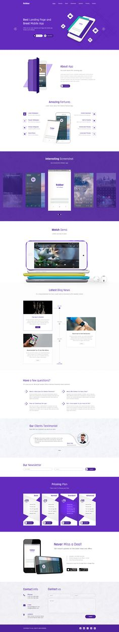 Robber Mobile App Landing Page PSD Template #marketing template #mobile app landing #mobile app template • Download ➝ https://themeforest.net/item/robber-mobile-app-landing-page-psd-template/19256101?ref=pxcr